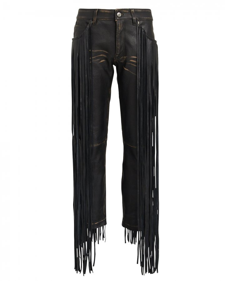 Jolly Fringe Leather Trousers