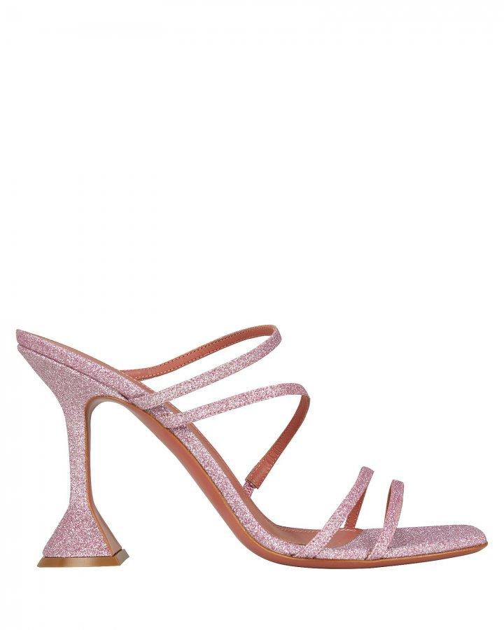 Naima Glitter Leather Sandals