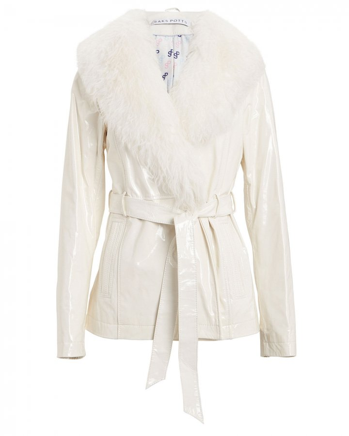 Ritual Shearling Patent Leather Jacket