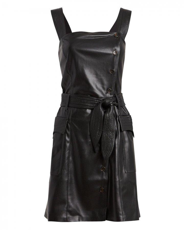 Charo Vegan Leather Mini Dress