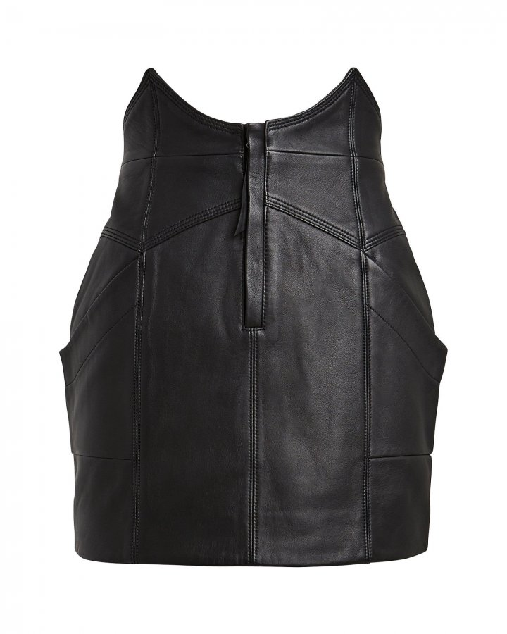 Fae Leather Mini Skirt