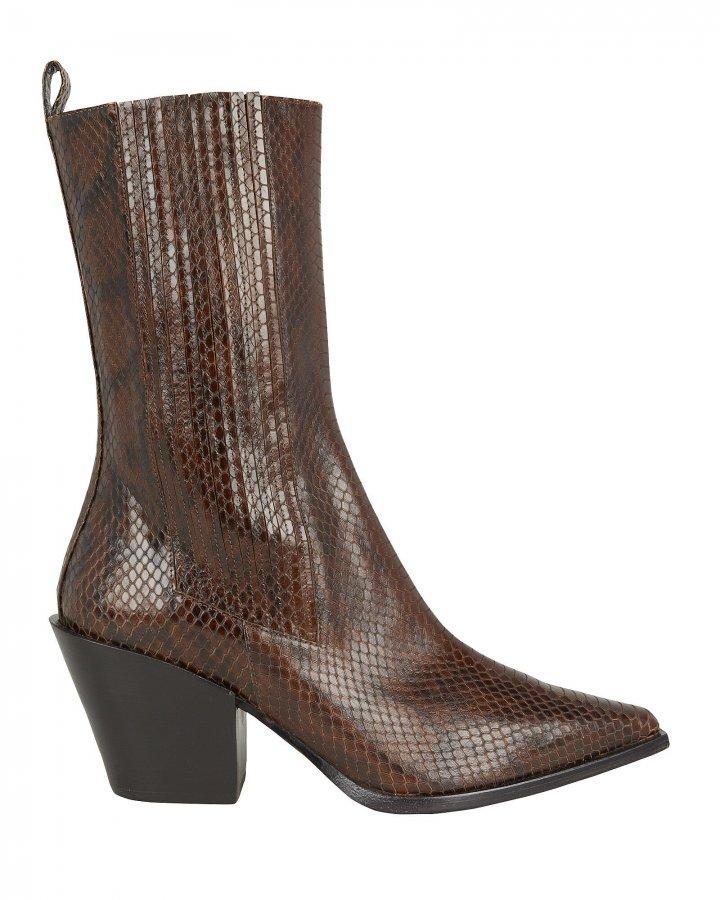 Ari Snake-Embossed Boots