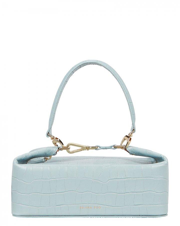 Olivia Croc-Embossed Leather Bag