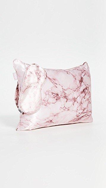 Pink Marble Travel Set