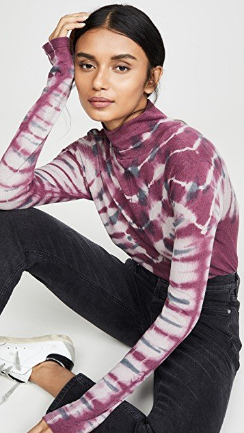Psychedelic Turtleneck Pullover
