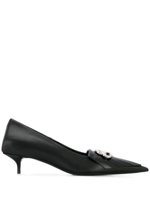 Balenciaga BB kitten-heel Pumps - Farfetch
