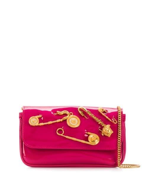 Versace Safety Pin Evening Bag - Farfetch