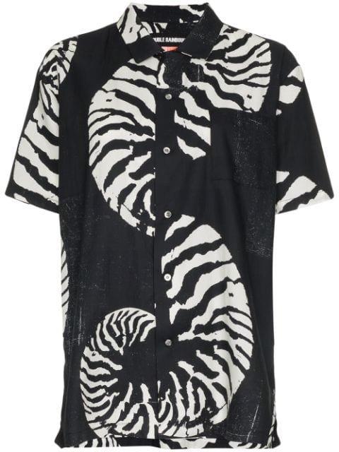 Double Rainbouu Beach House Shell Print Cotton Hawaiian Shirt - Farfetch