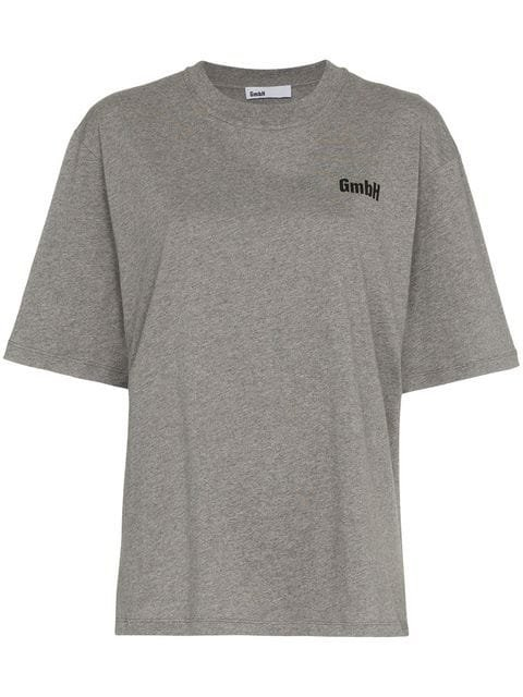 GmbH x Browns Logo Print T-shirt - Farfetch