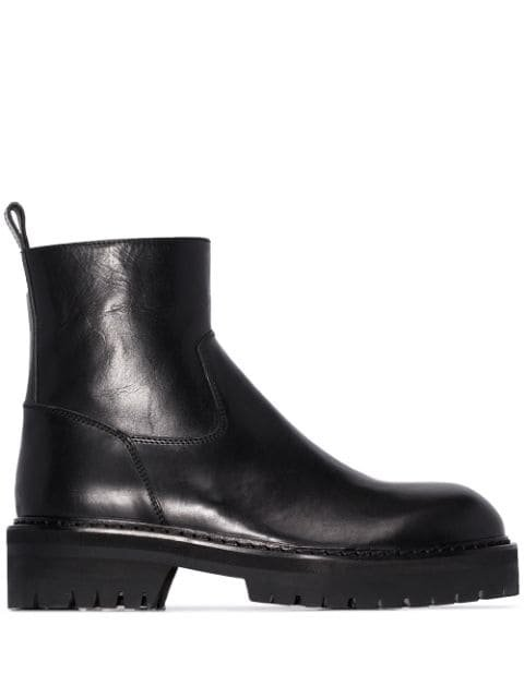 Ann Demeulemeester Tucson Chunky Ankle Boots - Farfetch