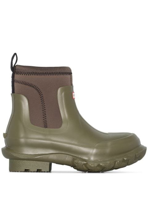 Stella McCartney X Hunter Olive Green Chunky Rubber Rain Boots - Farfetch