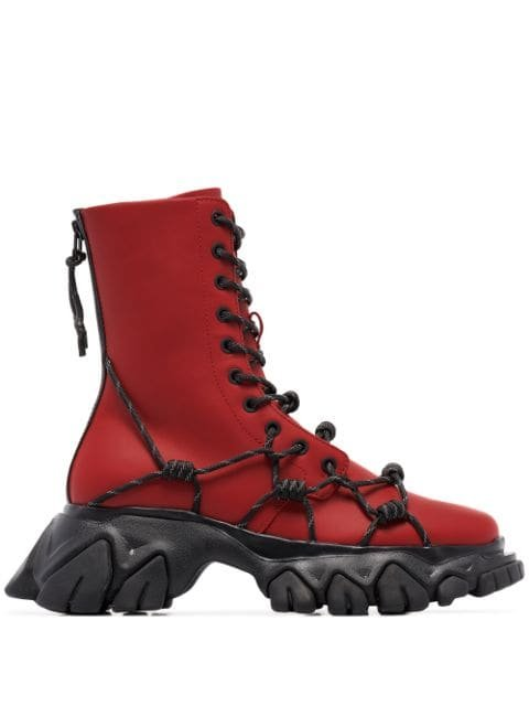 Angel Chen Chunky lace-up Boots - Farfetch