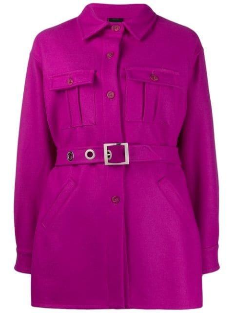 Pinko Belted Shirt Coat - Farfetch
