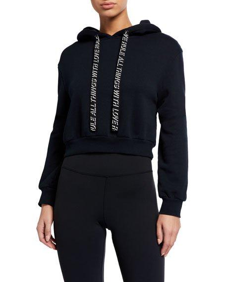Basic Crop Hoodie Sweatshirt