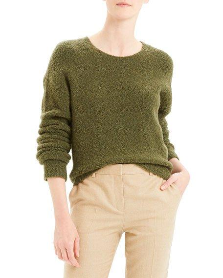 Shrunken Camel Boucle Sweater