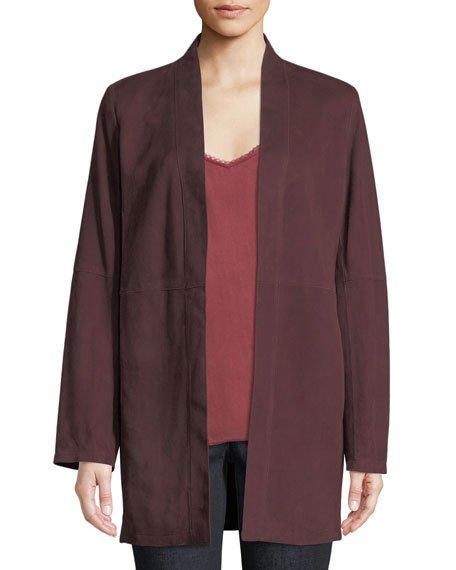 Suede Kimono Jacket