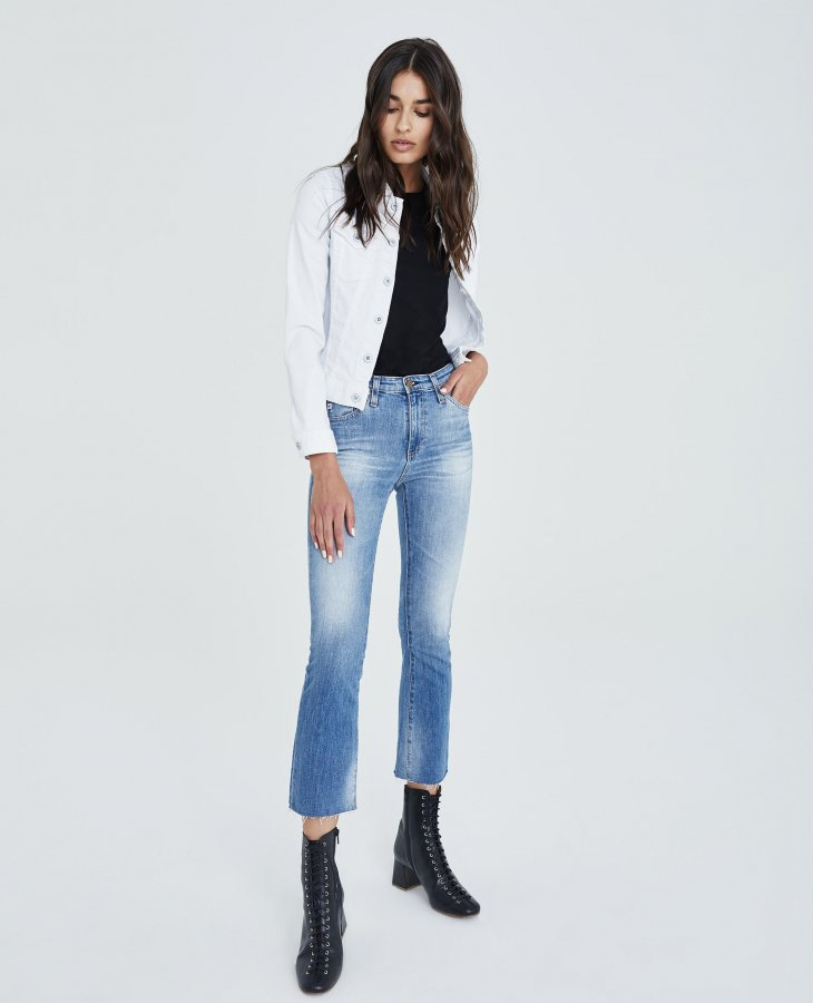 The Jodi Crop in 12Yrs Eternal Blue   AG Jeans Official Store