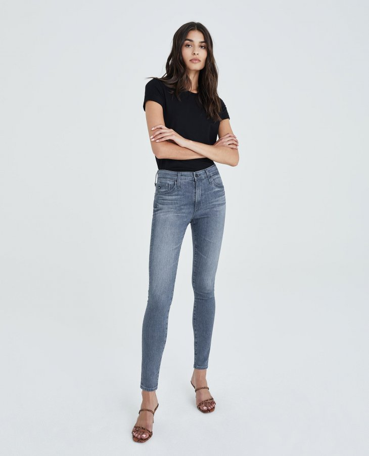 The Farrah Skinny in Gray Light   AG Jeans Official Store