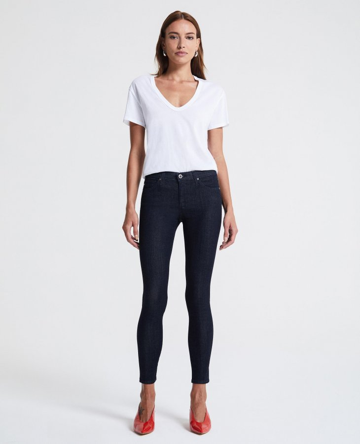 The Legging Ankle in Indigo Winter   AG Jeans Official Store