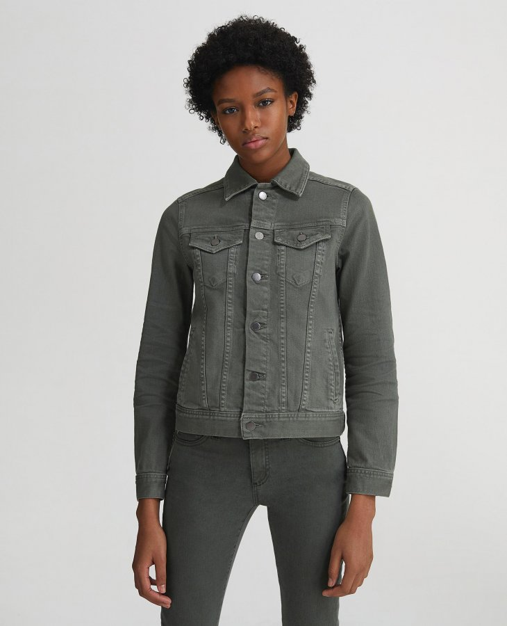 The Mya Jacket in 1 Year Sulfur Ash Green   AG Jeans Official Store