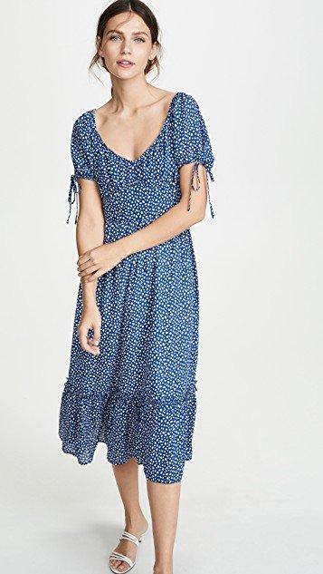 Blue Dot Dress