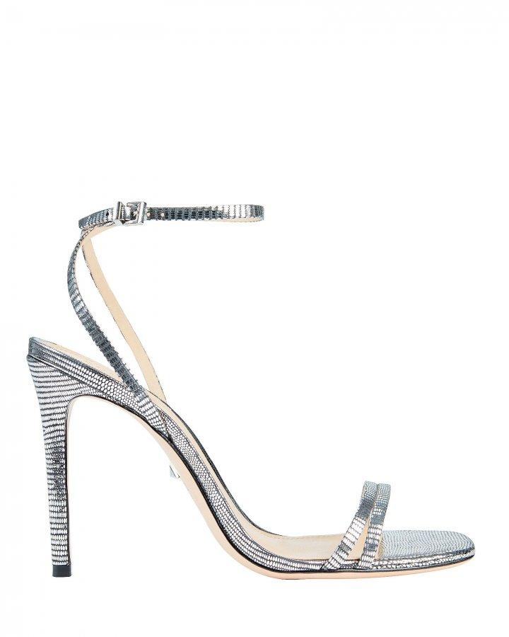 Altina Lizard-Embossed Metallic Sandals
