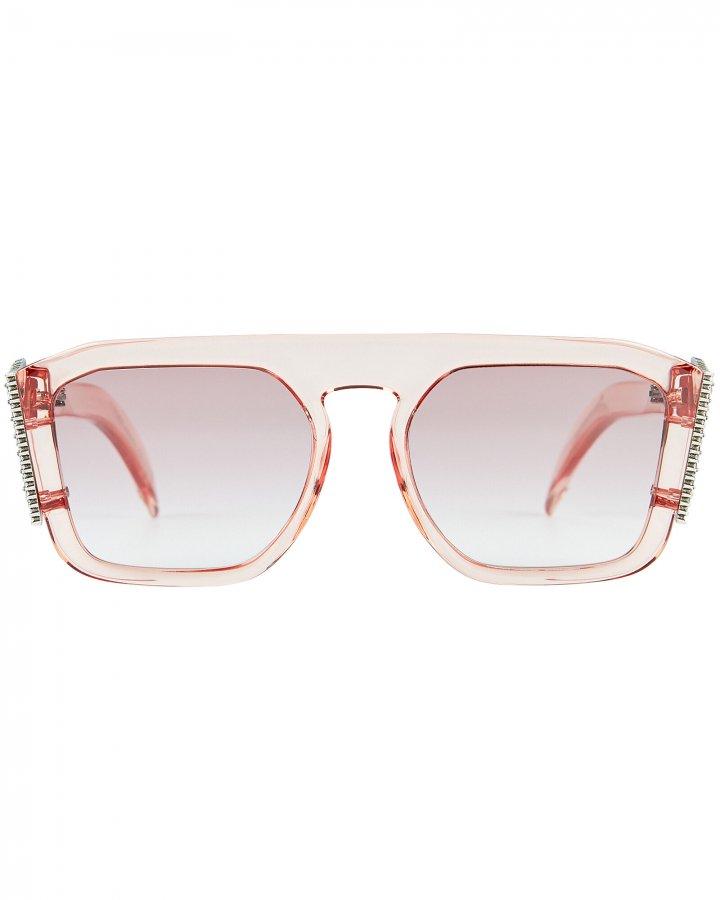 Crystal Logo Square Sunglasses