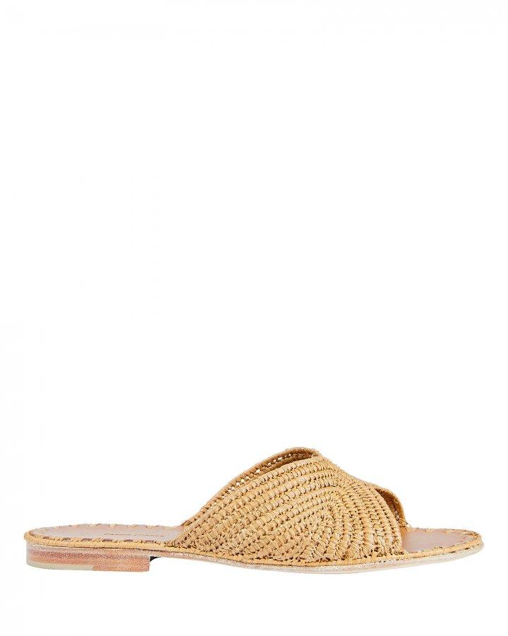 Salon Raffia Slide Sandals