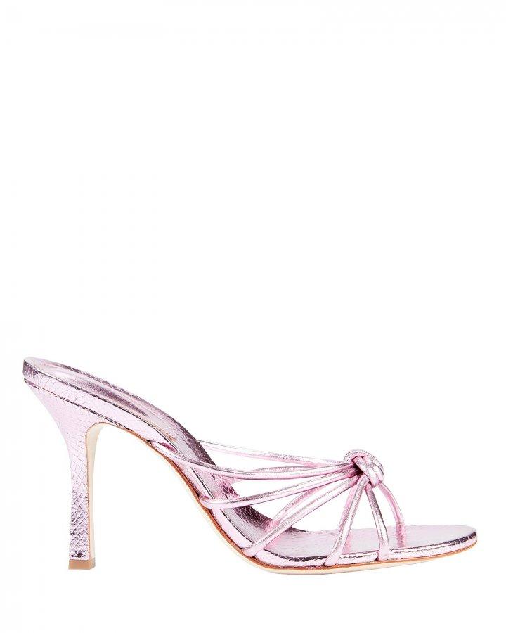 Rina Snake-Embossed Sandals