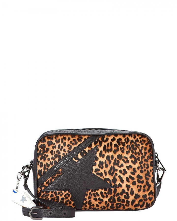 Logo Star Leopard Crossbody Bag