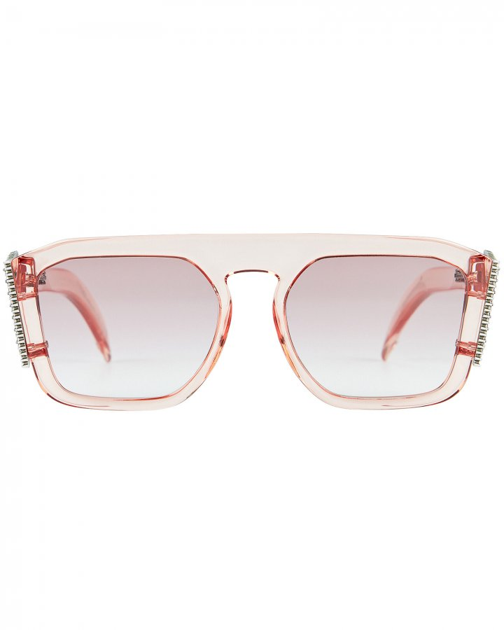 Crystal Logo Square Sunglasses