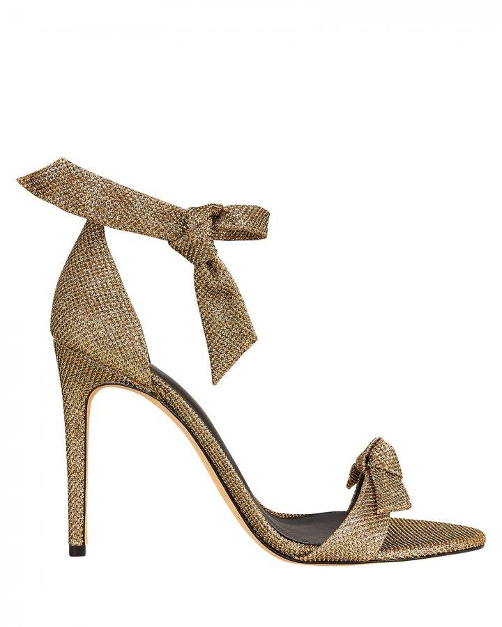 Clarita 100 Lamé Sandals
