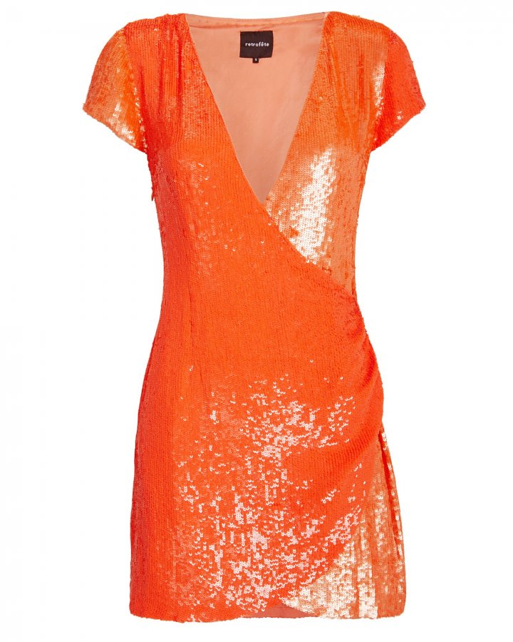 Olya Two-Tone Sequin Dress