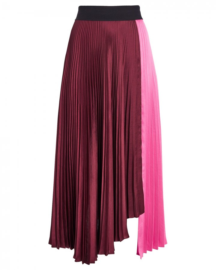 Grainger Pleated Colorblock Skirt