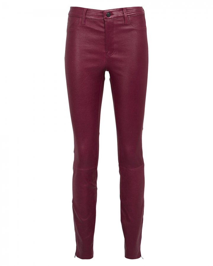 Baroness Mid-Rise Leather Leggings