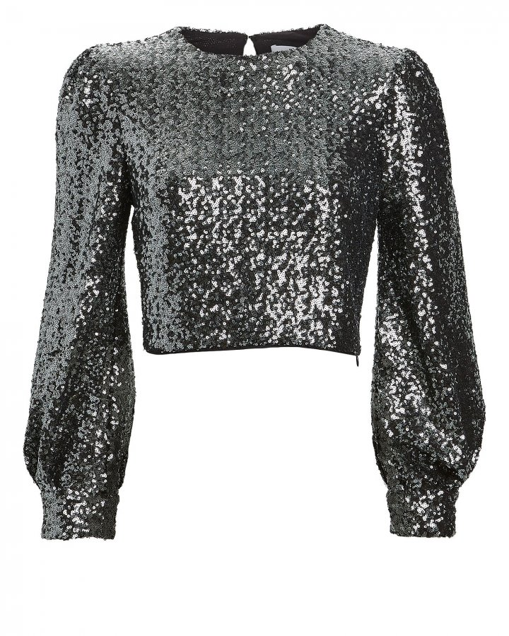 Sofia Cropped Sequin Top