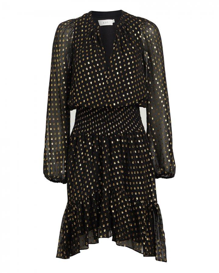 Sidney Metallic Fil Coupé Mini Dress