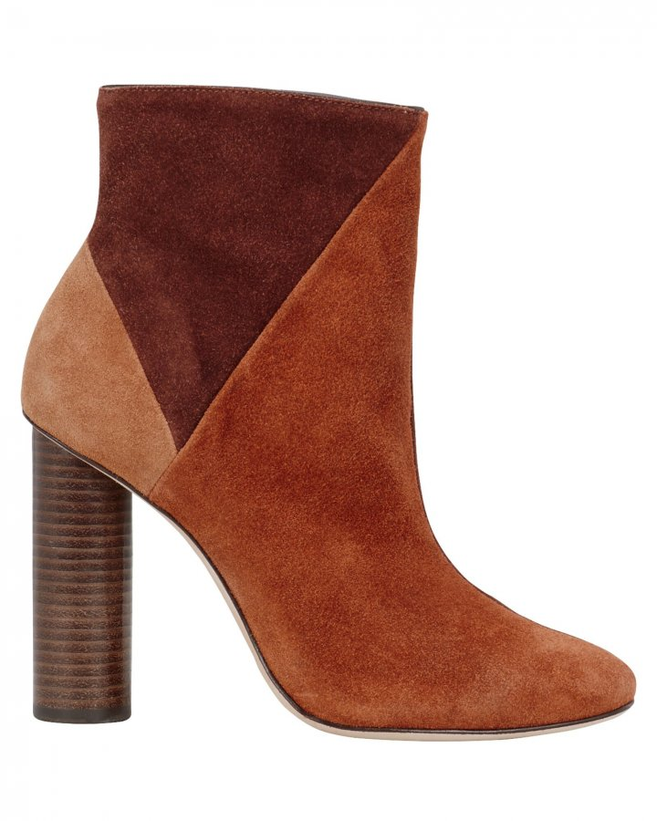 Carin Patchwork Suede Booties