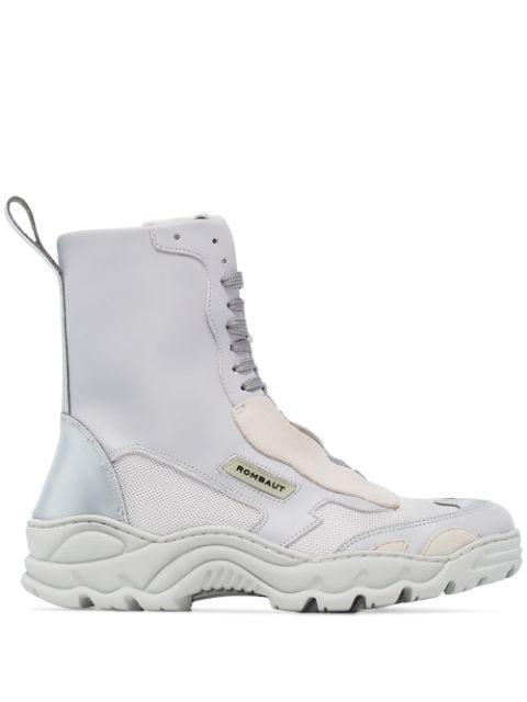 Rombaut Boccaccio Velvet lace-up Boots - Farfetch