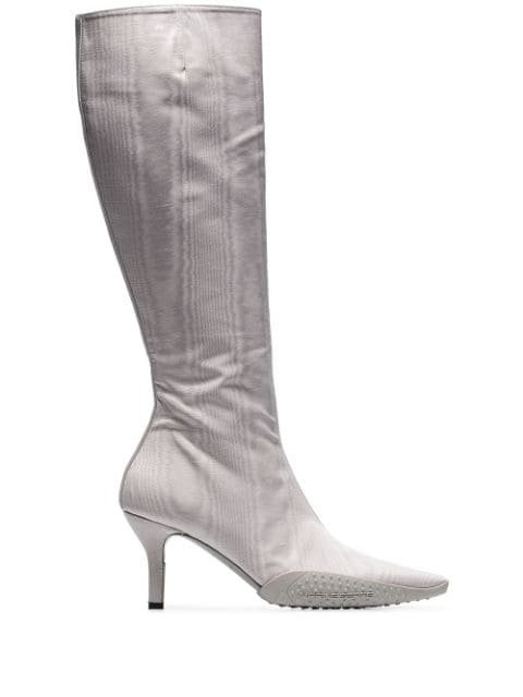 Marine Serre Knee High Sock Boots - Farfetch