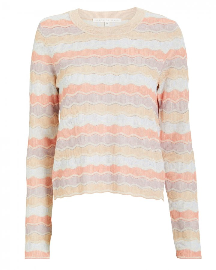 Alyssa Striped Crew Pull-Over