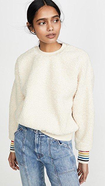 Oversized Sherpa Sweatshirt