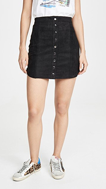 Alright Alright Faux Suede Skirt
