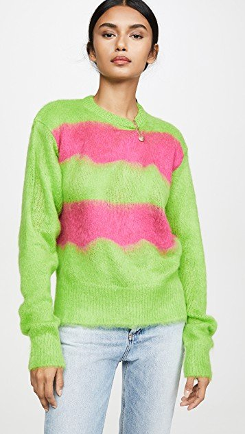 Fuzzy Neon Mohair Sweater