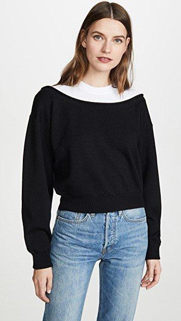 Peelaway Cropped Pullover