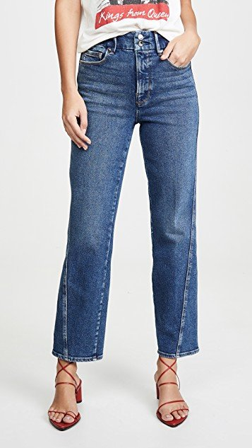Good Straight Twisted Seam Jeans