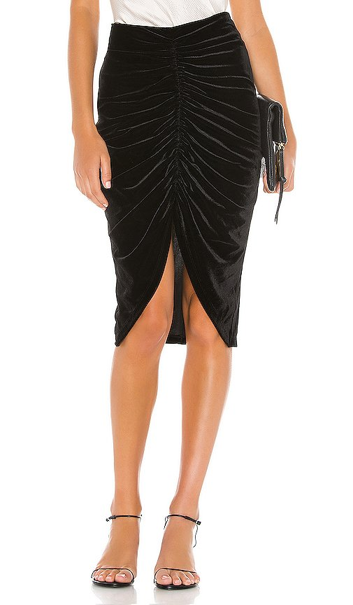 Andy Ruched Midi Skirt