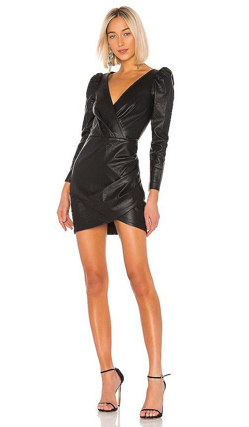 Cyan Leather Dress