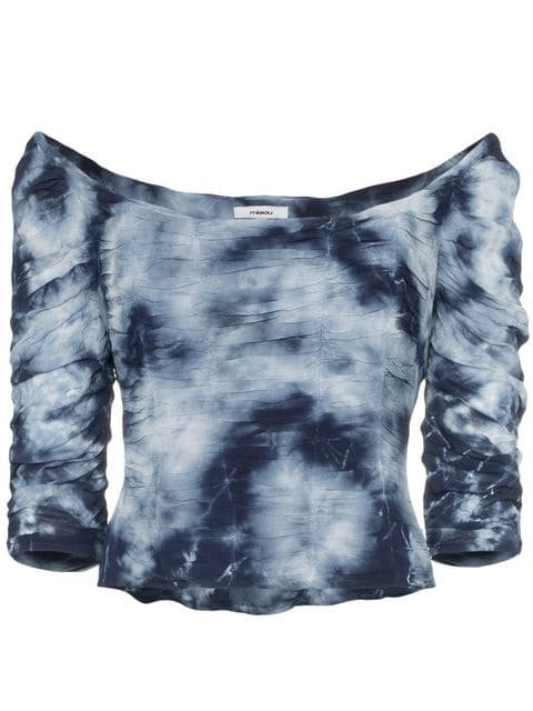 Miaou Madeline tie-dye Crop Top - Farfetch
