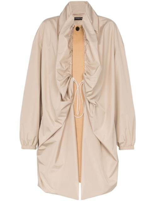 Y/Project Double Layer two-tone single-breasted Coat - Farfetch